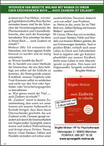 Interview von Brigitte Molnar mit woman