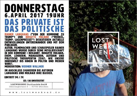 Rainer Langhans und Brigitte Molnar diskutieren: Das Private ist das Politische